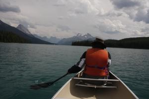 auf dem Maligne Lake