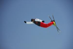Ski - Freestyle : Wahre Könner und wohl Olympiaanwärter. Wir haben mehrfache Schrauben und Salti in einem einzigen Sprung gesehen!