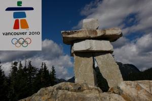 Das Maskottchen der Olympischen Spiele von Vancouver 2010