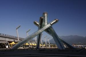 Die Olympiafackel von 2010