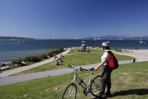 mit dem Bike am Pazifik