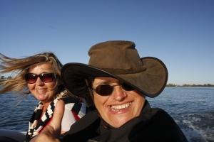 die Gastgeberin auf dem Boot: Lisa