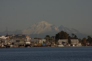 M.'s Berg: Mount Baker, schon in den USA nur 90 km entfernt.