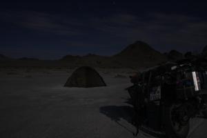 geschichtsträchtiger Zeltplatz im Mondschein