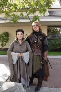 Arven und Aragorn (hat der in HdR auch ne Sonnenbrille getragen?)