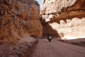 Schmaler Canyon im Capitol Reef N.P.