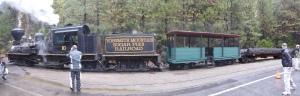 historische Eisenbahn im Yosemite NP