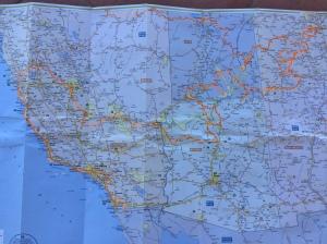Fahrstrecke USA Süswesten