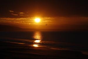 Sonnenaufgang in San Rosalito am Pazifik